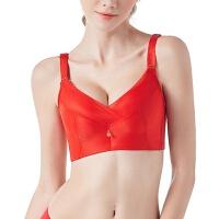 无钢圈聚拢调整型文胸本命年加厚女士性感内衣少女小胸收副乳胸罩