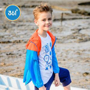 361度童装男女童外套中大童夏装儿童外套男女休闲防晒服皮肤衣N51722601