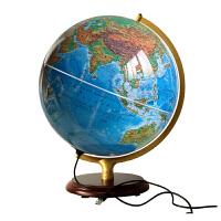 博目地球�x32cm 地形政�^ 中英文 金�僦Ъ� 木座 ��艄� 高清 地理教�W�W�工具 �y�L出版社 中��地�D出版社 �合�