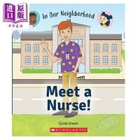 【中商原版】Meet a Nurse! 学乐职业规划系列:护士 英文原版 进口图书 故事绘本 分级阅读 独立阅读 7-1