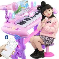 儿童电子琴带麦克风女孩钢琴玩具1-3-6岁宝宝礼物初学入门音乐器