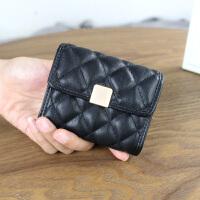 小香风卡包钱包一体包女式风琴多卡位卡片包银行卡套短款小零钱包