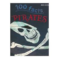100 Facts Pirates 100个事实系列海盗 儿童英语绘本读物 百科科普常识 百科全书 英文原版进口图书