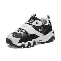 斯凯奇(Skechers)熊猫鞋男童女童鞋经典魔术贴亲子运动 成人款休闲鞋 996301L (8-12岁)