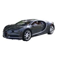 1:24布加迪威龙车模 原厂仿真合金汽车模型摆件跑车 钛灰色 布加迪