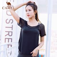 camel骆驼运动T恤春夏女款透气耐磨瑜伽健身上衣