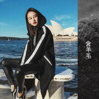 毛呢大衣女装中长过膝2017秋冬季新款加厚学生韩版黑色呢子外套潮