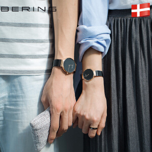 bering白令情侣手表正品一对价时尚简约男女对表钢带石英表潮流