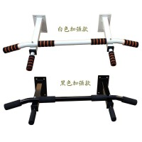 加强款家用墙体单双杠引体向上器材墙上健身锻炼体育器械 白色+ 加强杆一体-6泡棉