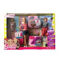 【当当自营】美泰正品Barbie芭比娃娃玩具套装芭比之小小旅行家FFB18