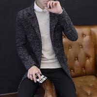 毛呢大衣秋冬中长款青年韩版呢子风衣加厚羊毛大衣潮流男士呢外套