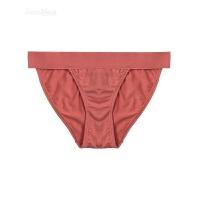 兰精莫代尔棉纯色透气舒适低腰内裤高腰三角裤 Orange Rust(低腰) S