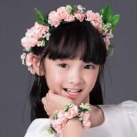 儿童头饰 花童唯美新娘花环手花套装 儿童礼服配饰 花童花环饰品 支持礼品卡支付