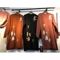 F7毛衣女秋冬中长款半高领小鸟 提花打底衫韩版套头长袖针织衫0.5