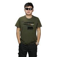 AOTU 男装户外军迷装备军装迷彩休闲短袖男式T恤 军绿色 X