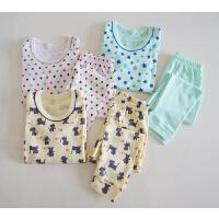 日式家居服 男童/女童 棉质秋衣套装 起居套装(长袖)三色