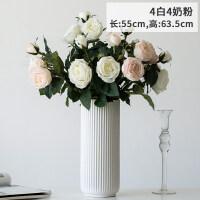 三头手感保湿仿真玫瑰花装饰花客厅装饰摆设仿真花假花餐桌摆件