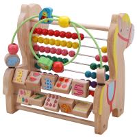 【支持礼品卡】婴儿绕珠串珠益智玩具6-12个月男孩女宝宝1-2-3周岁儿童早教积木 h4f