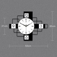 欧式钟表挂钟客厅现代简约时钟个性创意时尚表家用大气装饰石英钟 20英寸以上