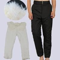 冬季真羊毛皮毛一体皮棉裤中老年加厚羊皮保暖皮裤皮毛一体裤男女