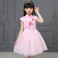 儿童旗袍夏季女童连衣裙公主裙唐装小女孩中国风礼服夏装新款