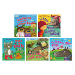 My Fairytale Time我的童话时间英文进口正版图书儿童启蒙英文绘本小红帽三只小猪三只坏脾气山羊金发姑娘和三