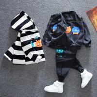 男童套装春秋款中小童卫衣宝宝儿童三件套