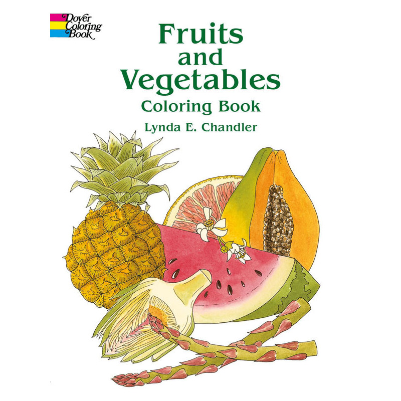 Fruits and Vegetables Coloring Book 按需印刷商品,15天发货,非质量问题不接受退换货。