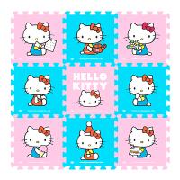 凯蒂猫卡通儿童爬行垫拼接泡沫拼图地垫客厅家用