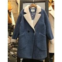 P3仿貂绒毛呢毛绒外套 女中长款加厚新款冬季宽松韩版大衣1.2