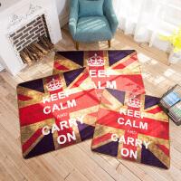英伦风米字旗复古地垫 欧美客厅进门门垫卧室个性创意脚踩小地毯
