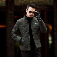 冬季短款羽绒服男士修身立领外套加厚保暖中年爸爸装新款上衣