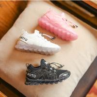 儿童运动鞋2018女童春季软底跑步鞋中大童透气球鞋韩版百搭潮鞋