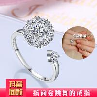 925银情侣戒指结婚男女欧美银戒指饰品开口锆石戒指女情侣对戒