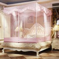 三开门蚊帐方顶拉链支架有底宫廷加密加厚双人家用1.5米1.8m2米床