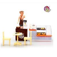 乐吉儿面包屋洋布芭比娃娃套装礼盒2014女孩儿童玩具