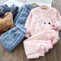 儿童睡衣冬季新款宝宝家居服小孩冬装保暖居家