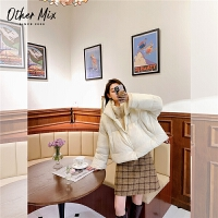 七格格othermix羽绒服女短款2020年新款白鸭绒轻薄假两件时尚秋冬韩版外套