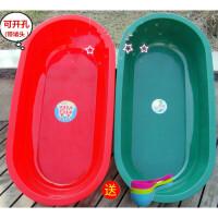 加厚塑料浴盆超大号儿童洗澡桶沐浴缸泡澡盆特大洗澡方盆 特厚红色◆长140宽71高30 厘米