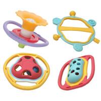 婴幼儿玩具 牙胶手摇铃玩具套装宝宝儿童早教益智礼盒装生日礼物 BY608-44四只全牙胶礼盒装