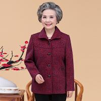 老年人春装女60-70-80岁奶奶装唐装上衣妈妈装短款老太太春秋外套