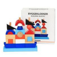 木制建筑堆堆乐海盗船套柱积木儿童早教启蒙益智木质玩具.