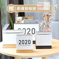 2019日历2020年ins风简约台历 桌面记事本台历日系无印风计划日历