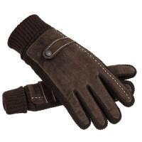 皮手套男冬季加绒骑行保暖加厚触屏韩版冬天户外骑车摩托车棉手套