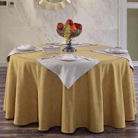 酒店棉麻圆桌布方台布餐桌布艺茶几布盖布纯色素雅复古加厚不透光