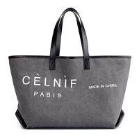 欧美时尚女包帆布包大容量女士单肩包购物袋式手提大包休闲旅行包