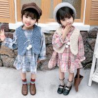 女童马甲格子裙两件套2020韩版套装一件