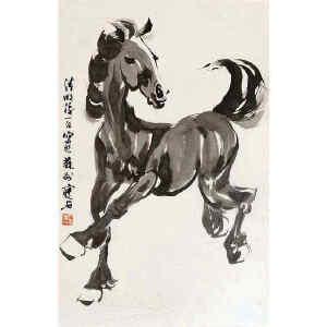 尹瘦石  《骏马》