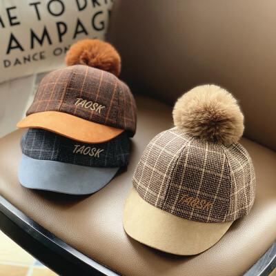 婴儿帽子春秋季女童鸭舌帽潮新生男童秋冬季