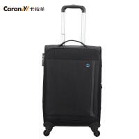 卡拉羊商务旅行箱包万向轮拉杆箱登机行李箱子20寸24寸男女CS8438
